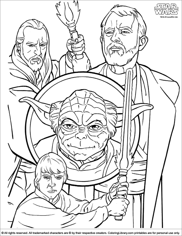 Star Wars coloring page that you