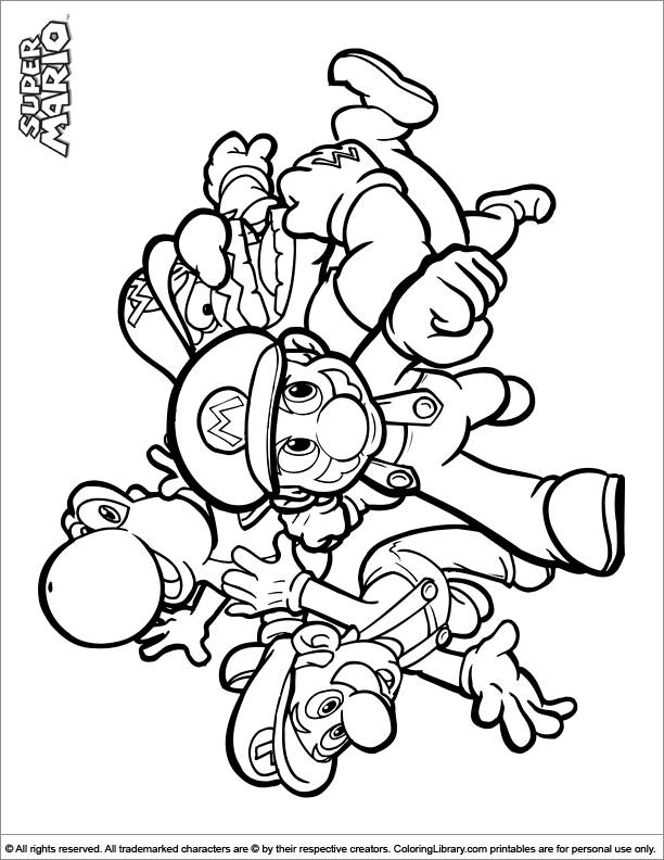 Super Mario Brothers coloring page free