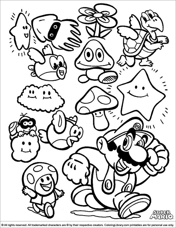 Mario Car Coloring Pages : New super mario bros coloring pages