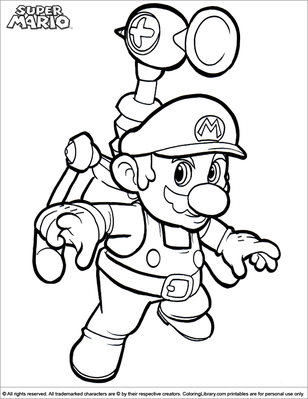 Super Mario Brothers free coloring printable