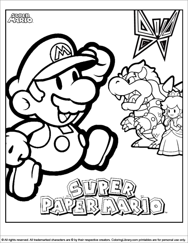 lago mario coloring pages - photo#15