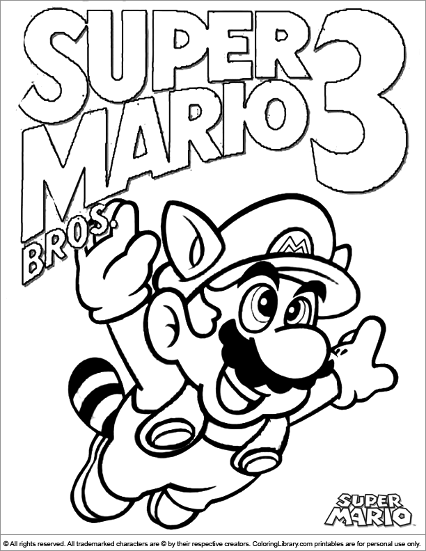 - Super Mario Brothers Colouring Sheet For Children - Coloring Library