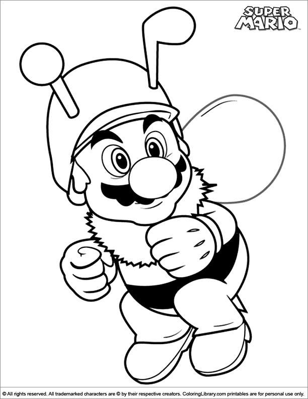 Mario Brothers Coloring Picture