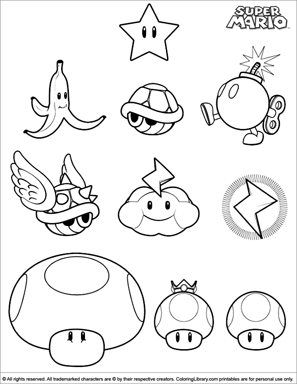 super mario brothers coloring page - super mario broswii u free colouring pages