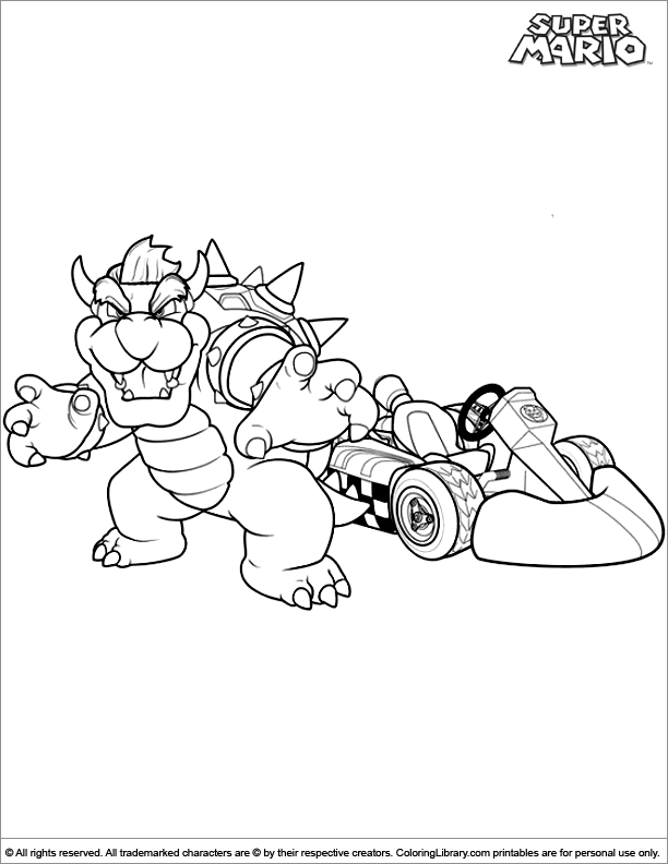 Super Mario Brothers Coloring Pages - Coloring Library