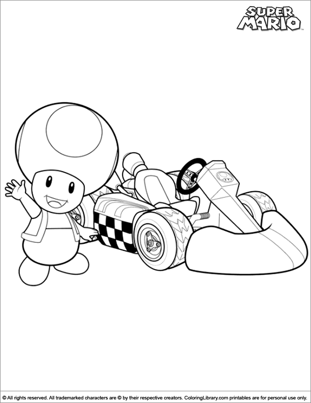Super Mario Brothers printable page