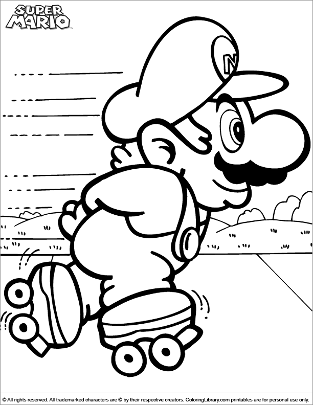 Super Mario Brothers Coloring Pages Super Mario Brothers