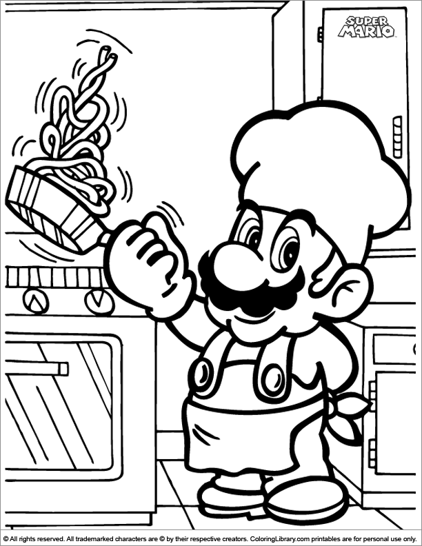- Super Mario Brothers Colouring Book - Coloring Library