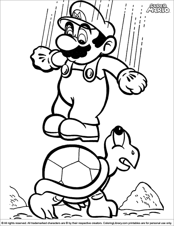 - Super Mario Brothers Color Page - Coloring Library