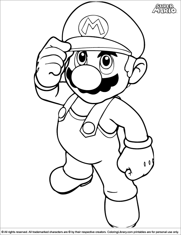 Super Mario Brothers Coloring Page For Kids - Coloring Library