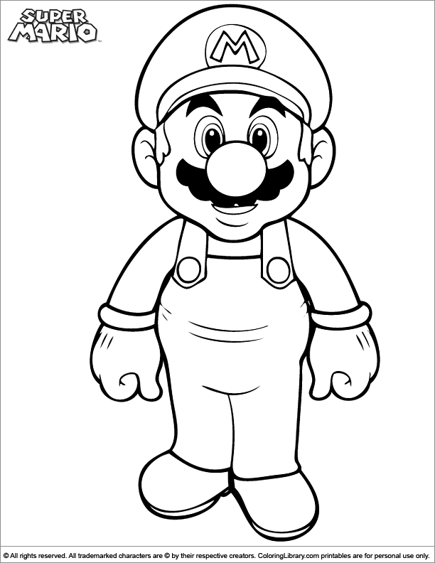 Super Mario Brothers Colouring Page Coloring Library