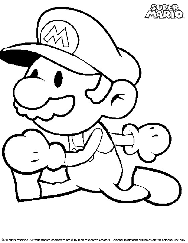 Super Mario Brothers coloring book page