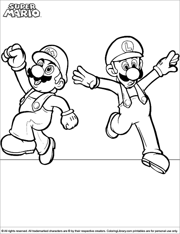 Mario Brothers Coloring Book