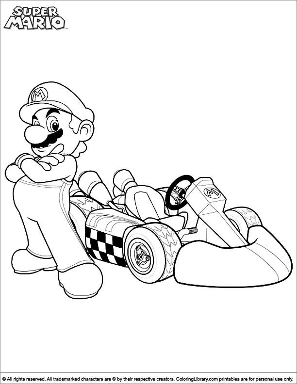 Super Mario Brothers fun color page