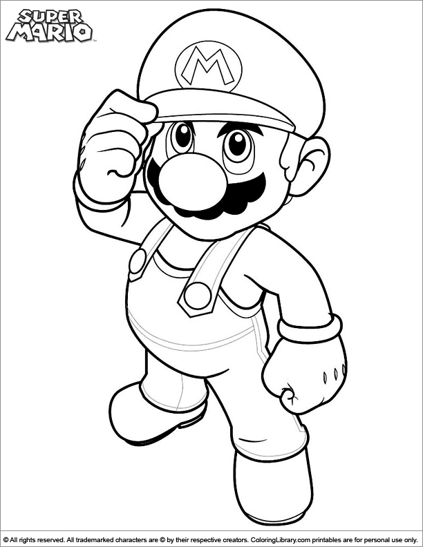 Super Mario Brothers Coloring Book Printable - Coloring Library