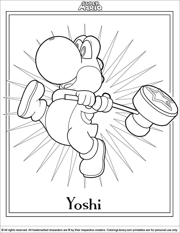 Super Mario Brothers coloring book sheet