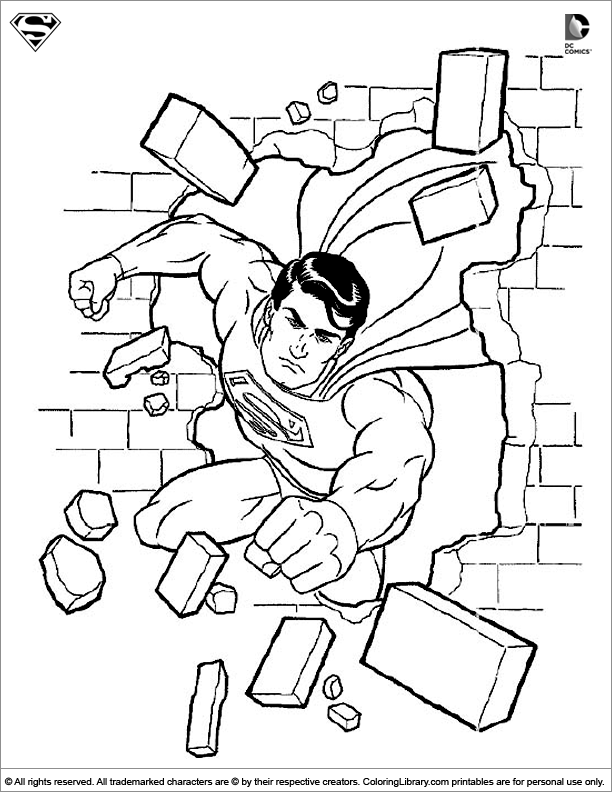 Superman coloring sheet