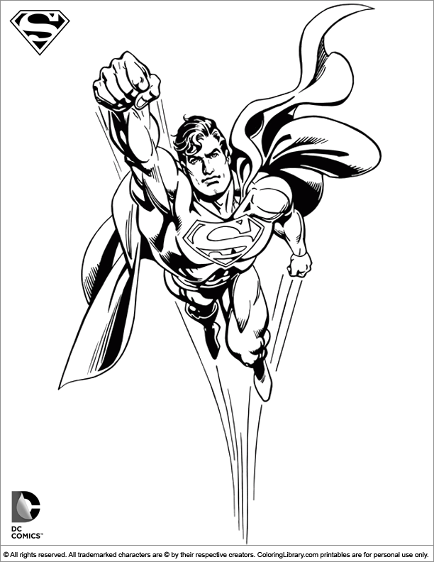 Superman Coloring Picture Coloring Library
