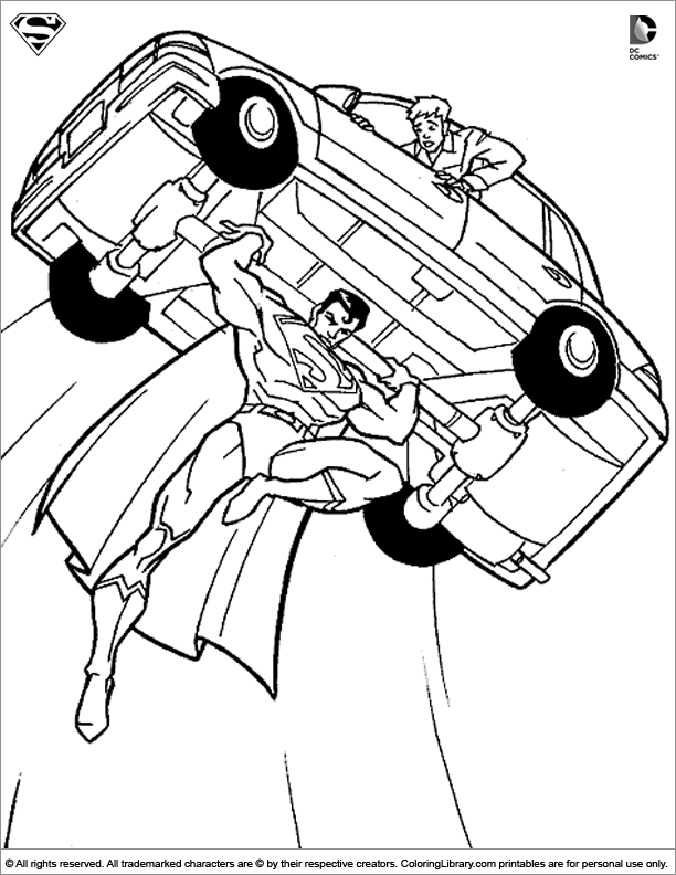 Superman colouring page - Coloring Library