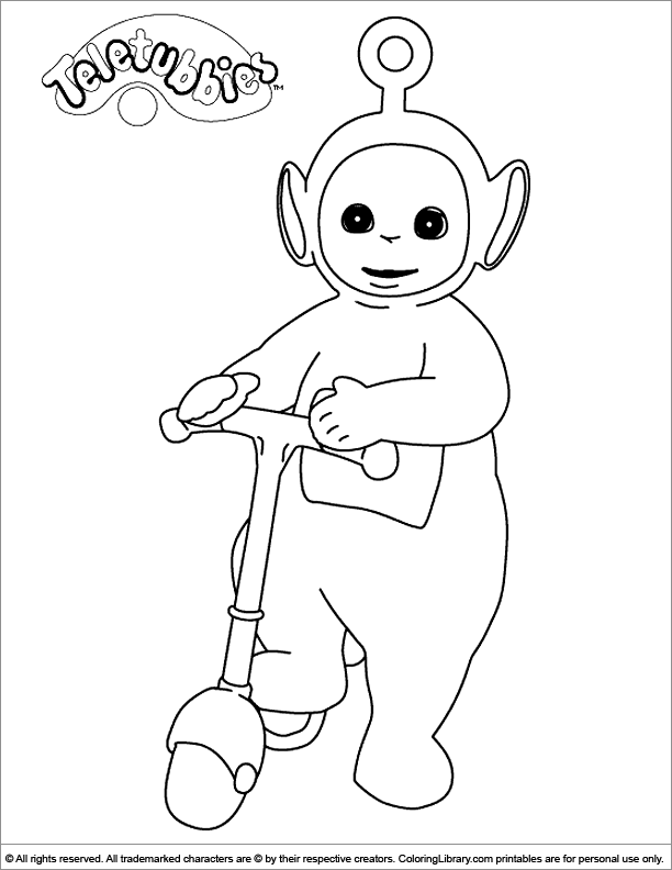 Fun Teletubbies coloring sheet