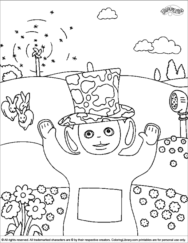 printable teletubbies coloring pages for kids cool2bkids