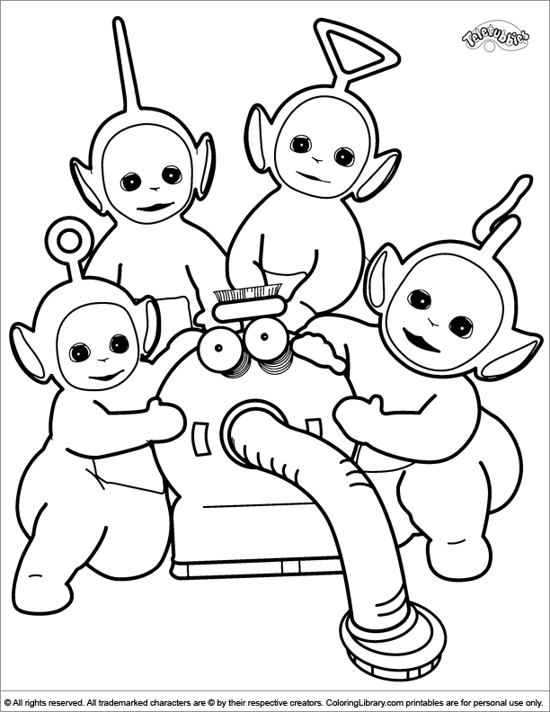 Lala teletubbies coloring pages coloring pages for Teletubbies dipsy coloring pages