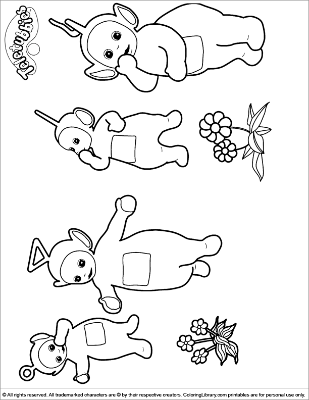 the teletubbies eat together coloring page color luna