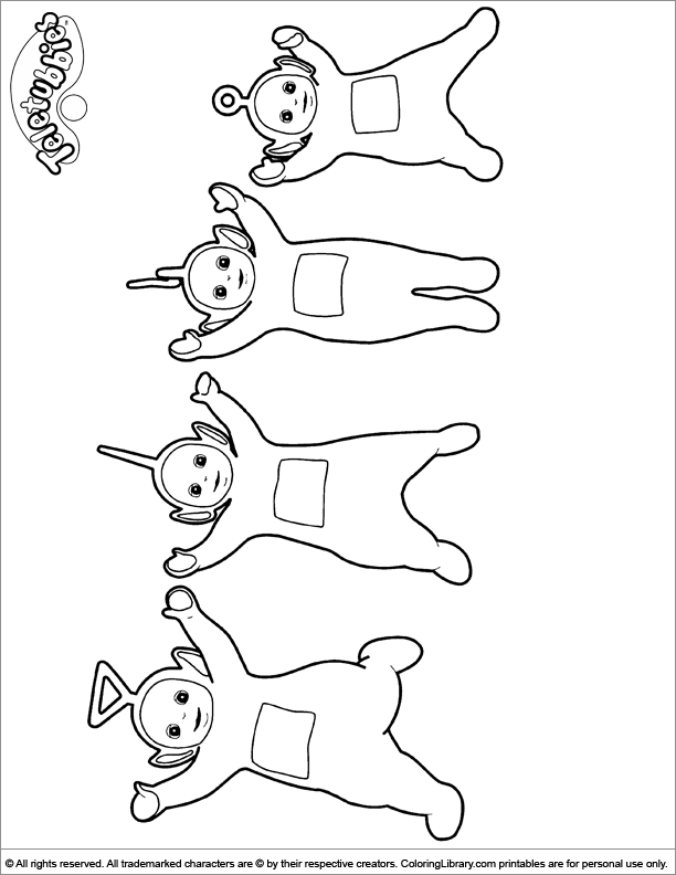 Printable Teletubbies Coloring Pages | ColoringMe.com | 792x612