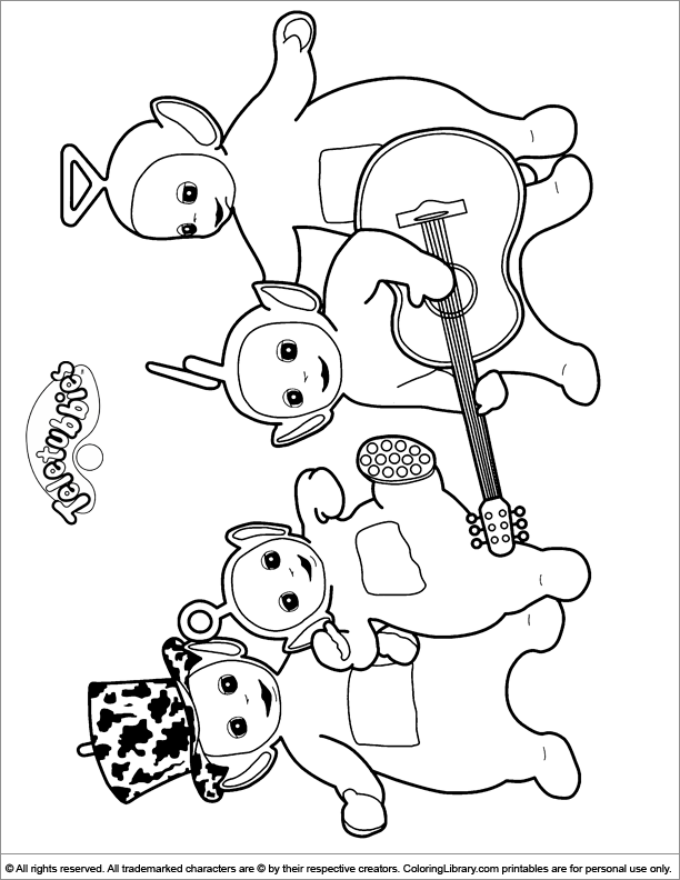 Teletubbies Coloring Pages | 792x612