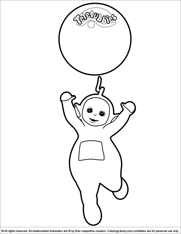 Teletubbies coloring page to print