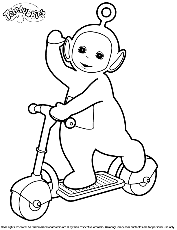 teletubbies online coloring pages - photo#24