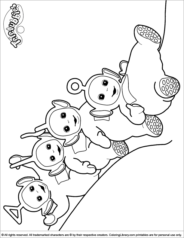 Teletubbies coloring picture to print