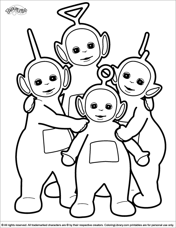 Teletubbies coloring