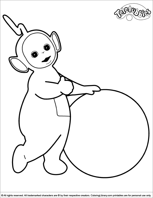Teletubbies printable coloring page