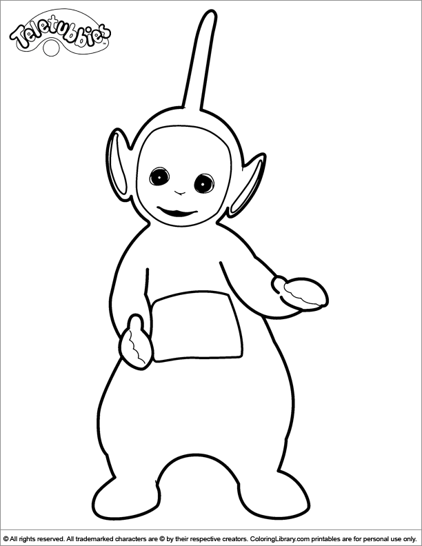 Teletubbies colouring in