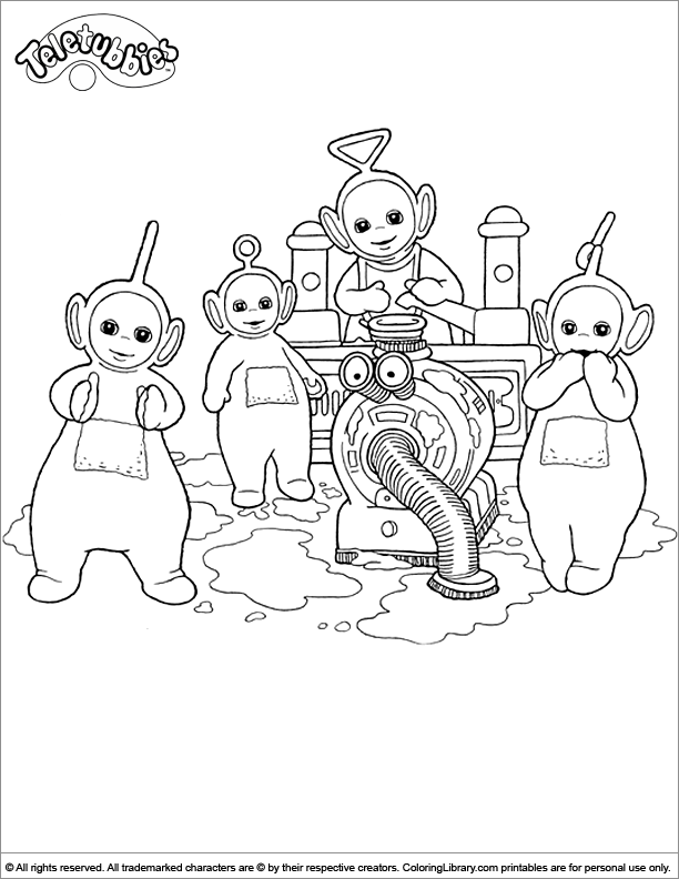 Teletubbies free coloring sheet