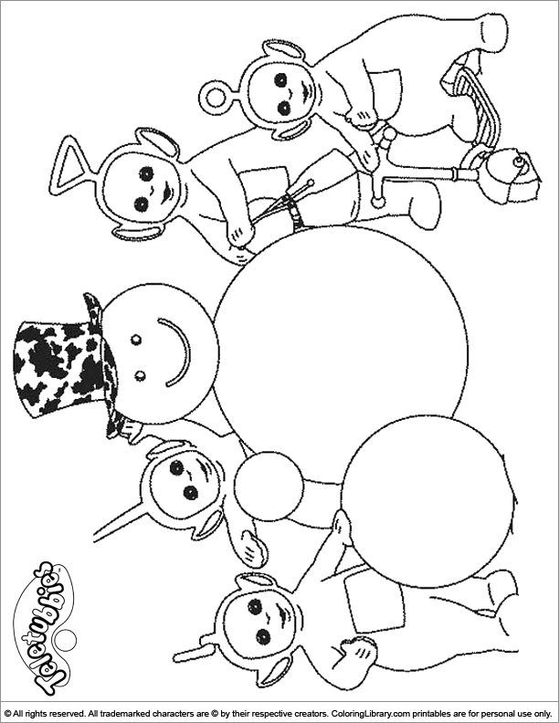 Printable Teletubbies coloring page