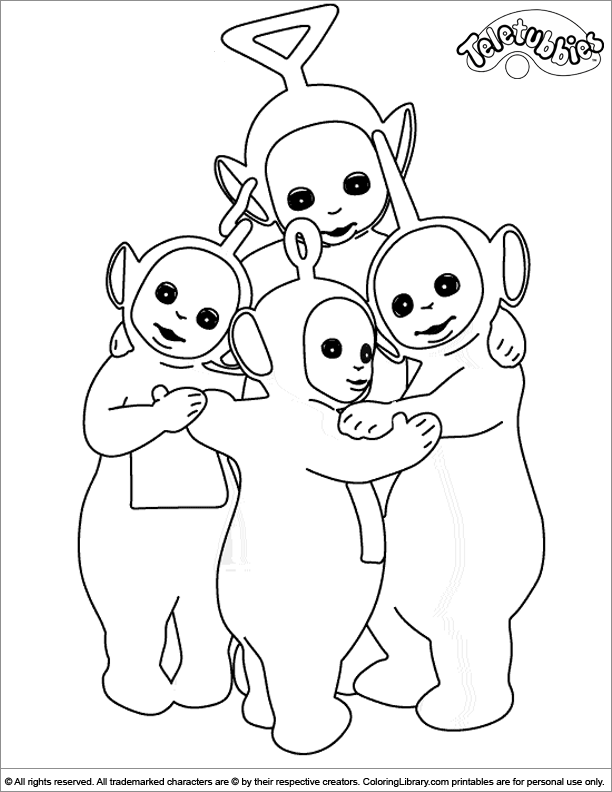 Teletubbies coloring book sheet
