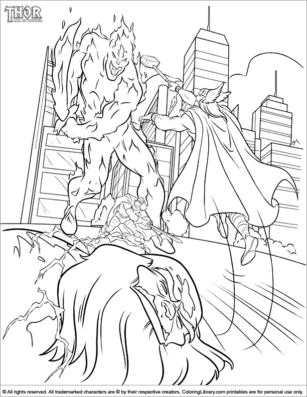 thor printable coloring pages - thor online coloring page coloring library
