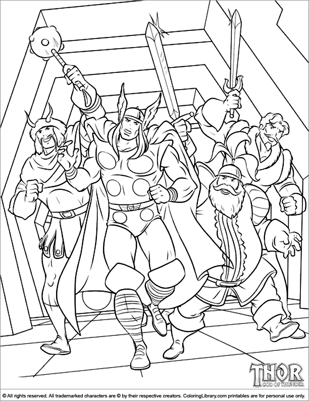 Free Coloring Pages Of Thor Face
