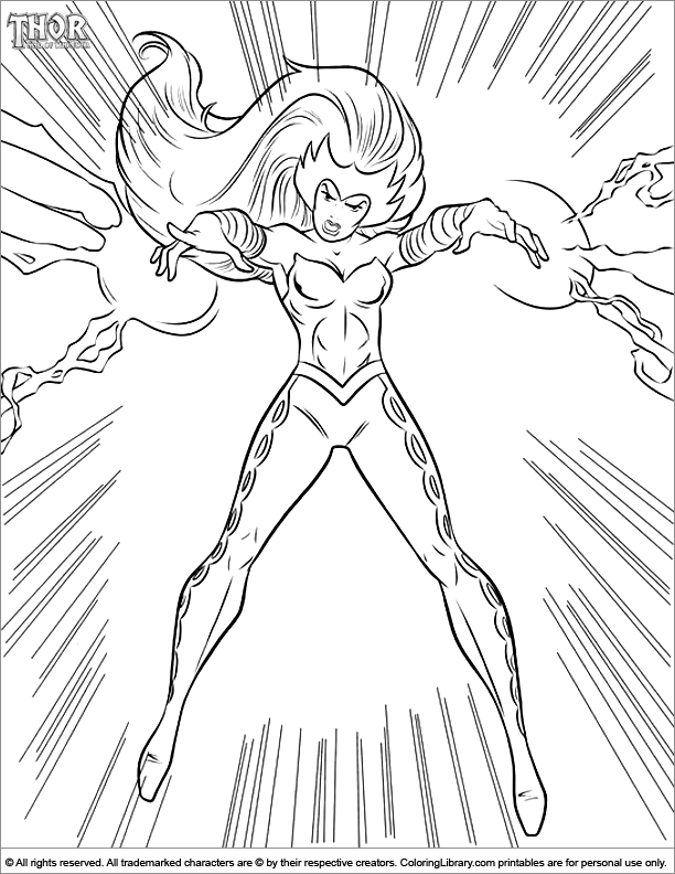 Thor Printable Coloring Page Coloring Library