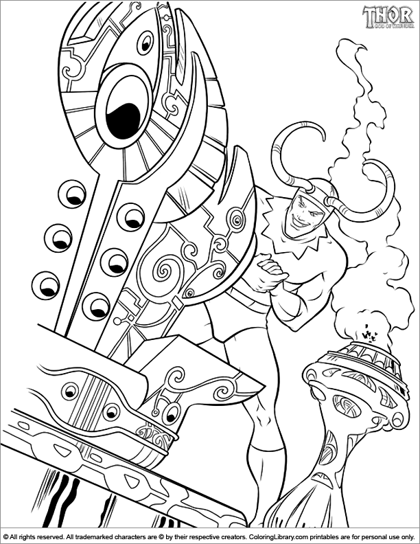 Thor coloring page that you can print