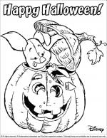 Halloween Disney coloring