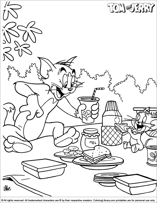 Tom and Jerry coloring page