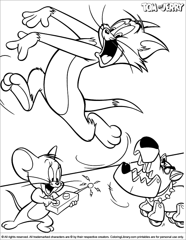 Tom and Jerry coloring book