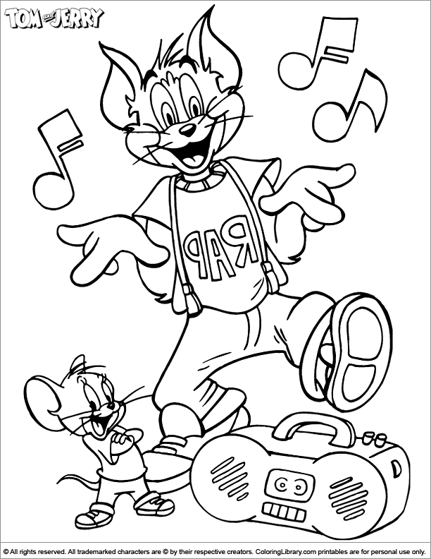 Cool Tom and Jerry coloring page