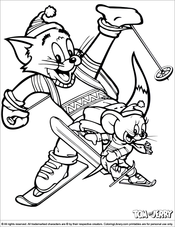 Tom and Jerry coloring printable for kids