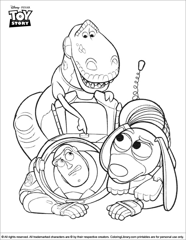 Toy Story online coloring page