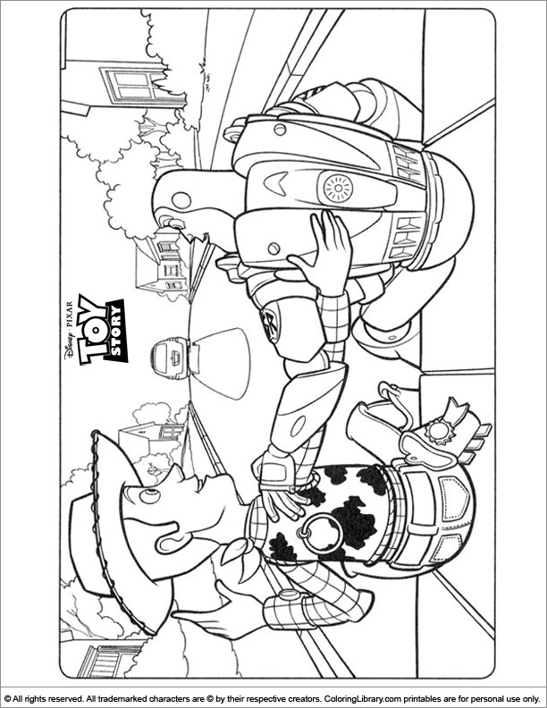 Toy Story coloring page fun