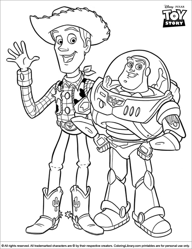 Toy Story coloring book picture